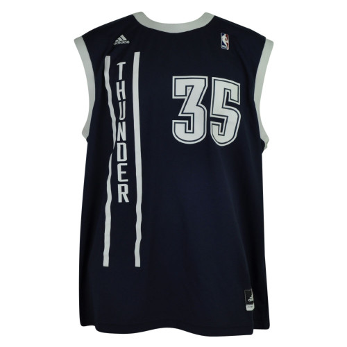 wholesale dealer 68c82 7b032 NBA Oklahoma City Thunder OKC Pro Cut 35 Kevin Durant Mens Jersey Adidas  Navy