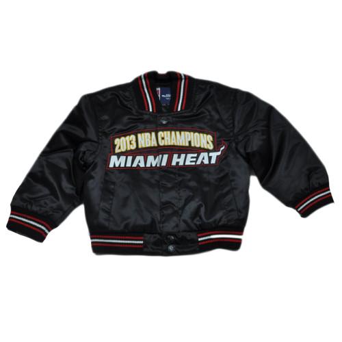 NBA Miami Heat JH Design 2013 NBA Champions Toddler Satin Jacket Snap Button