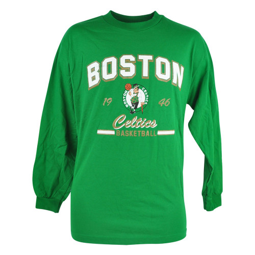 NBA Boston Celtics Sealer Long Sleeve Shirt Tee Green Basketball Mens