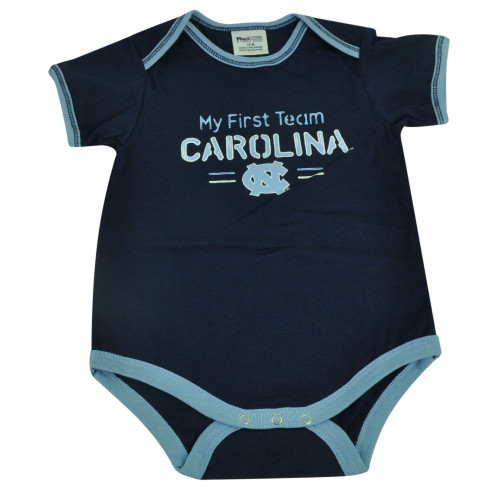 NCAA North Carolina Tar Heels My First Team NC Navy Bodysuit Baby Infant Creeper