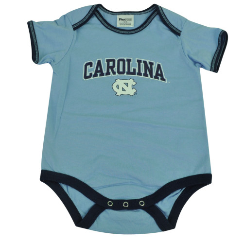NCAA North Carolina Tar Heels NC Blue Bodysuit Creeper Baby Infant Cotton