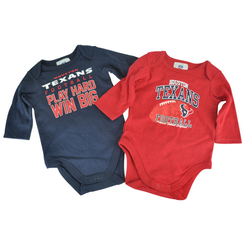 NFL Houston Texans Football Infant Baby Set Straws Creeper Bodysuit
