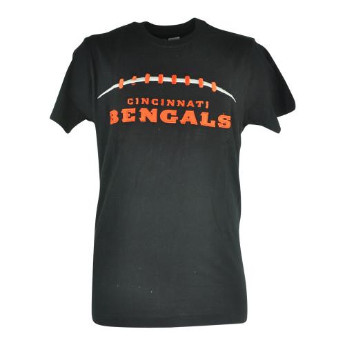 NFL Cincinnati Bengals Cole Applique Black Football Tshirt Tee Mens Shirt