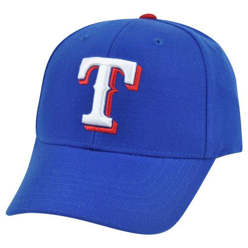 a100c65e9cb35 MLB  47 Brand Texas Rangers Baldschun Road Adjustable Constructed Velcro Hat  Cap