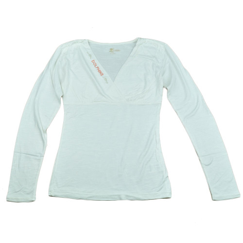 NFL Miami Dolphins The Blitz Women Ladies V-Cut Long Sleeve Glitter Shirt