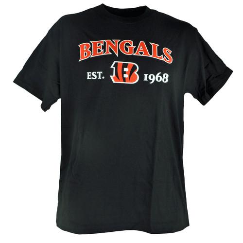 NFL Cincinnati Bengals Commissioner EST 1968 Football Tshirt Tee Black