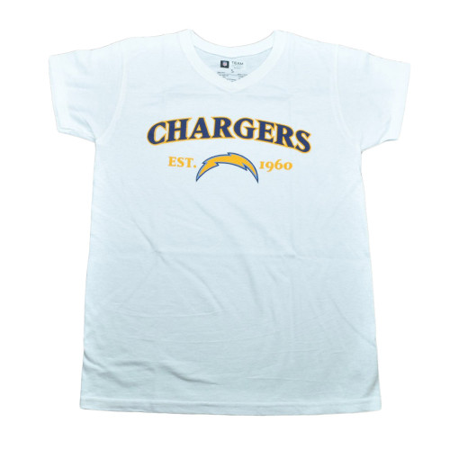 NFL San Diego Chargers Commissioner EST 1960 Football Tshirt Tee White