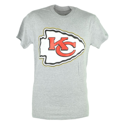 NFL Kansas City Chiefs KC Sloan Football Grey Mens Tshirt Tee Fan Shirt