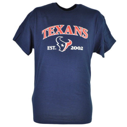 NFL Houston Texans Commissioner EST 2002 Football Tshirt Tee Men Navy Blue