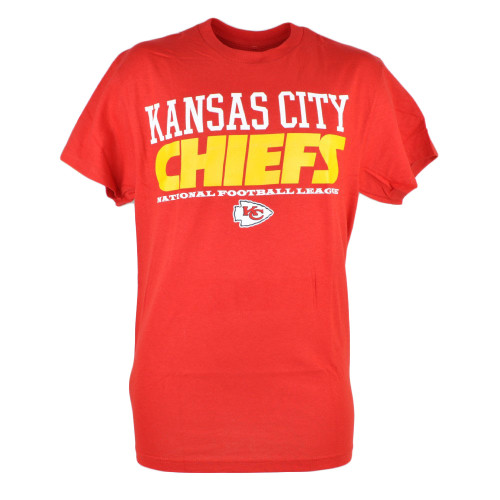 NFL Kansas City Chiefs Workhorse Mix Red Mens Tshirt Football Tee Shirt
