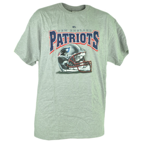 NFL New England Patriots Tshirt Cup Mug Set Grey Shirt Tee Football Short Sleeve