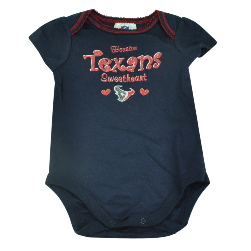 NFL Houston Texans Set Infant Bodysuits Girls Creeper Baby Fan Navy Ruffles