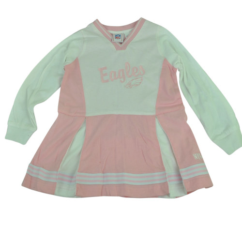 NFL Philadelphia Eagles Nigella Cheerleader Long Sleeve Dress Youth Pink