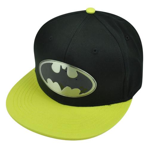 Batman Metal Badge Snapback Flat Bill Super Hero Cartoon DC Comic Books Hat Cap