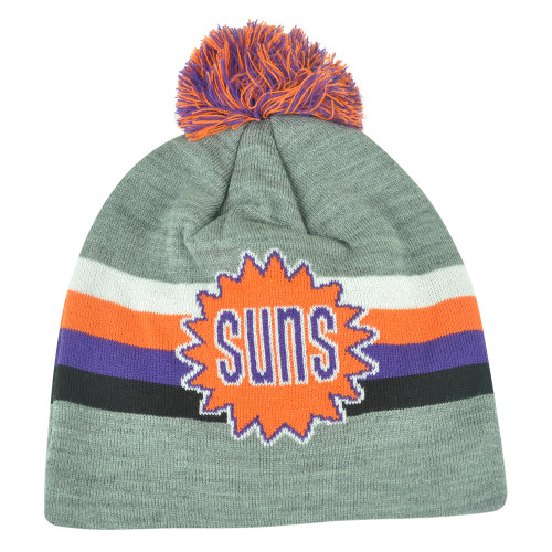 NBA Mitchell Ness Boost Long KL75 Cuffless Knit Pom Pom Beanie Phoenix Suns HWC