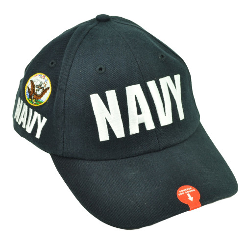 U.S Navy Anchors Aweigh Singing Cap Sound Hat Adjustable United States Military