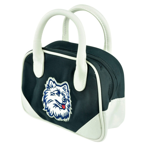 NCAA Connecticut Huskies Mini Bowler Hand Bag Two Tone Accessories Ladies Women