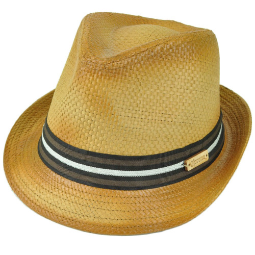 Corona Beer Lager Beach Paper Straw Diamond Top Fedora Small Medium Trilby Hat