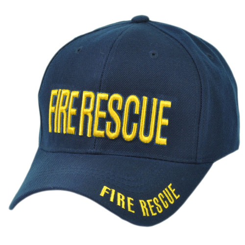 Fire Rescue Department Velcro Firefighters Navy Blue First In Last out Hat Cap
