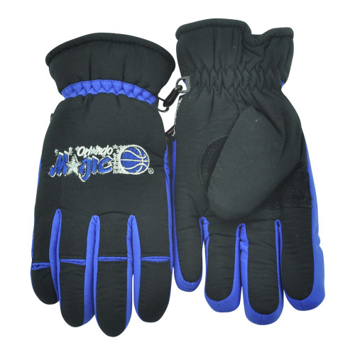 NBA Orlando Magic Winter Snow Gloves Thermal Insulation One Size Basketball Blac