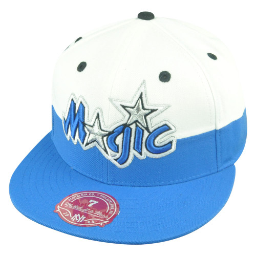 NBA Mitchell Ness Orlando Magic G058 Half Fitted White Hat Cap