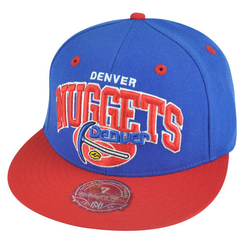 1b1c8731 ABA Mitchell Ness TU40 Denver Nuggets Basic Fitted Wool Hat Cap ...