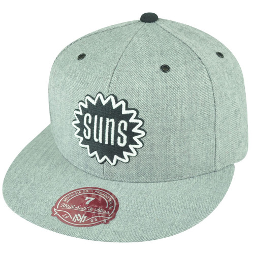 NBA Mitchell Ness Phoenix Suns TS53 HWC Heather Grey Fitted Hat Cap