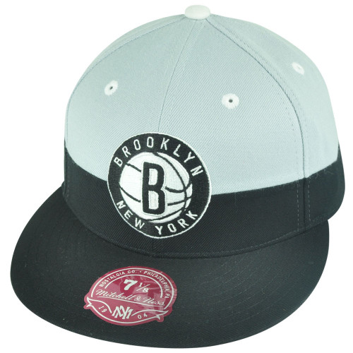 NBA Mitchell Ness G108 Brooklyn Nets Color Split Fitted Hat Cap