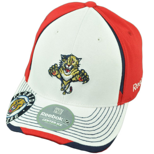 NHL Reebok Florida Panthers M075 Flex Fit Large XLarge Center Ice Stretch Hat Cap