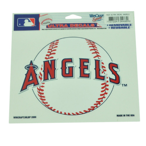 MLB Los Angeles Angels Ultra Decal Removable Reusable Baseball Sticker Fan Sport