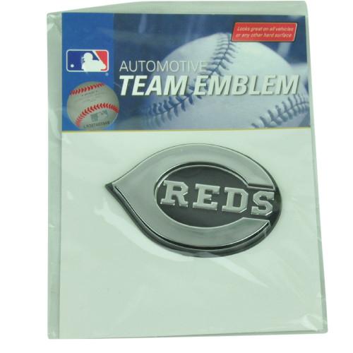 MLB Cincinnati Reds Automotive Emblem Vehicles Cars Silver3D Pro Mark Chrome