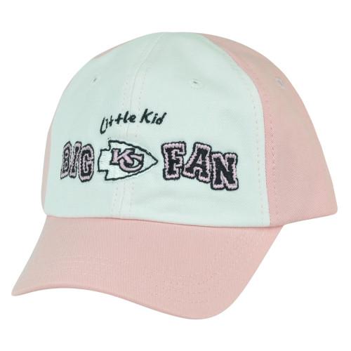 64d9373d NFL Kansas City Chiefs Little Kid Big Fan Toddler Girls Slouched Pink Hat  Cap