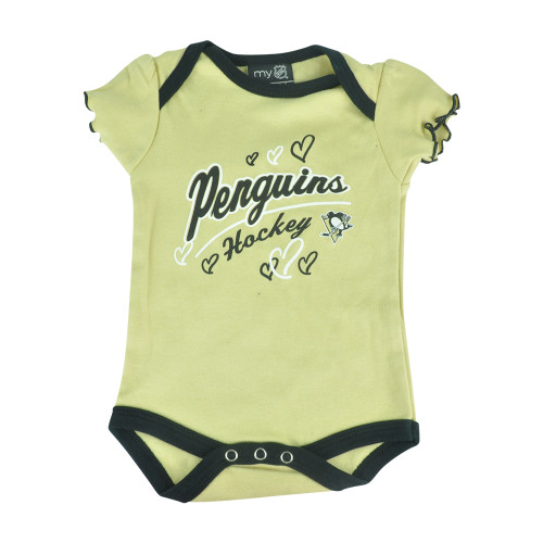 NHL Pittsburgh Penguins Owl Creek Infant Baby Girls Bodysuit Creeper
