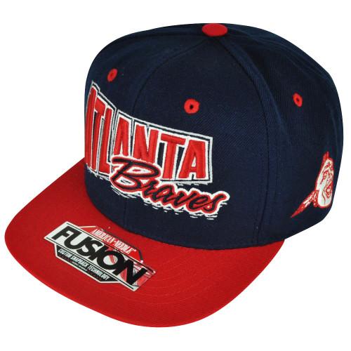 d64b707009c MLB American Needle Atlanta Braves Fusion Angler Snapback Flat Bill Hat Cap