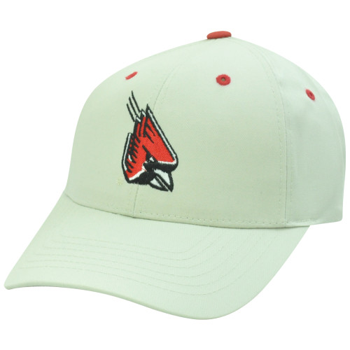 Louisville Cardinals Cards NCAA Twill Plain Logo Beige Adjustable Velcro Hat Cap