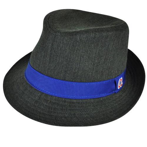 MLB Atlanta Braves American Needle Gray Blue Small Diamond Top Gatsby Fedora