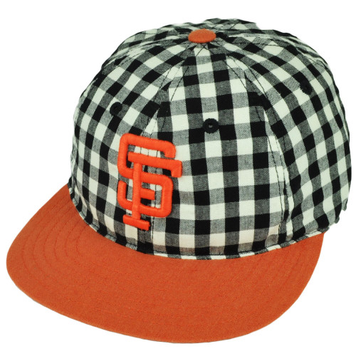 MLB American Needle San Francisco Giants Plaid Checkered Belt Buckle Hat Cap