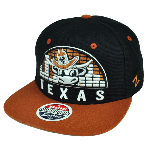 detailed pictures 5804d 411a4 NCAA Zephyr Texas Longhorns Equalizer Snapback Flat Bill Black Hat Cap  Sports