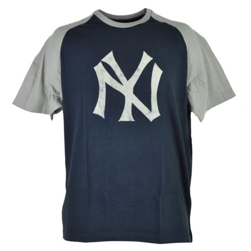 MLB New York Yankees Mens Adult Paratrooper Tshirt Tee Short Sleeve Navy Blue