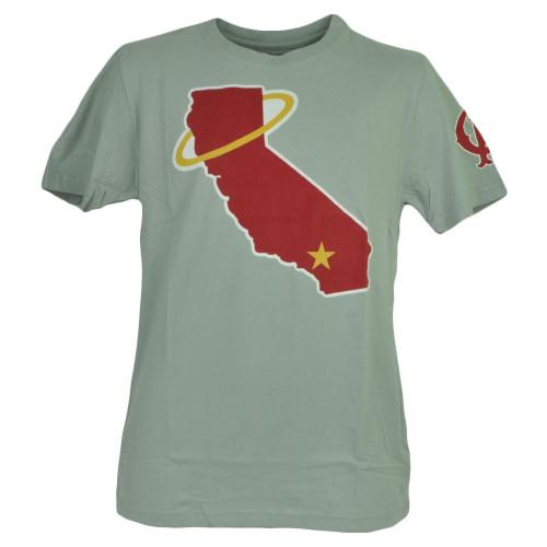 MLB Los Angeles Angels Gray Tshirt Tee Mens Adult Short Sleeve Cotton Crew Neck