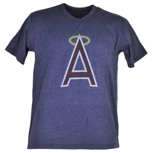 MLB Los Angeles Angels Blue Short Sleeve Tshirt Tee Mens Adult Crew Neck Sports
