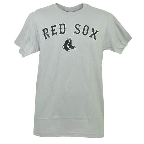 MLB Boston Red Sox Gray Tshirt Tee Mens Adult Short Sleeve Crew Neck Cotton