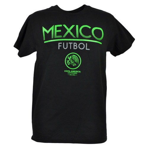 Copa America Centenario USA 2016 Mexico Tshirt Tee Soccer Futbol Game Black Adult