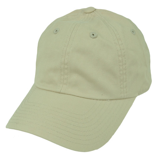 American Needle Beige Relaxed Hat Cap Blank Plain Solid Color Velcro Classic