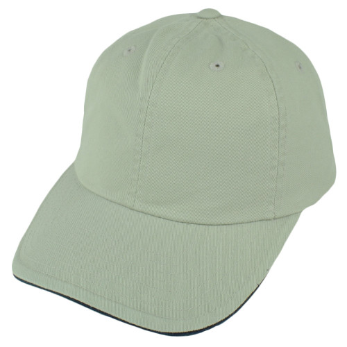 American Needle Khaki Garment Relax Plain Solid Blank Classic Hat Cap Velcro