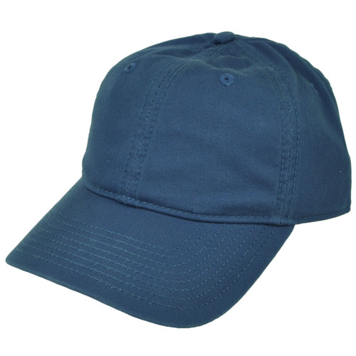 American Needle Cobalt Blue Relaxed Hat Cap Blank Plain Solid Color Sun Buckle