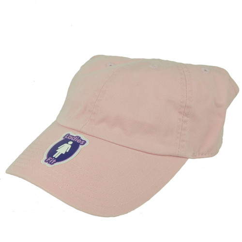 American Needle Pink Open Back Hat Cap Visor Womens Ladies Velcro Blank Plain