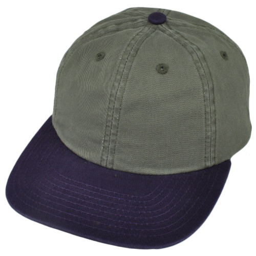 American Needle Olive Purple Flat Bill Sun Buckle Relaxed Slouch Hat Cap Washed