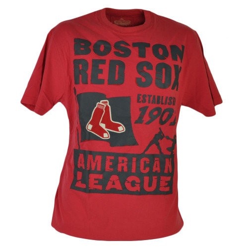 MLB Boston Red Sox Est 1901 Red Tshirt Tee Medium Mens Adult Tshirt Tee Sports