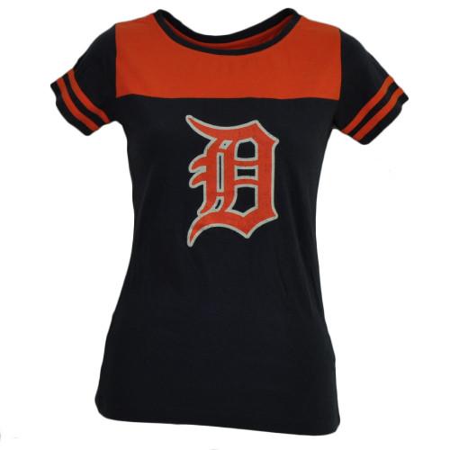 MLB Detroit Tigers Womens Ladies Petite Small Blue Tshirt Tee Short Sleeve Sport